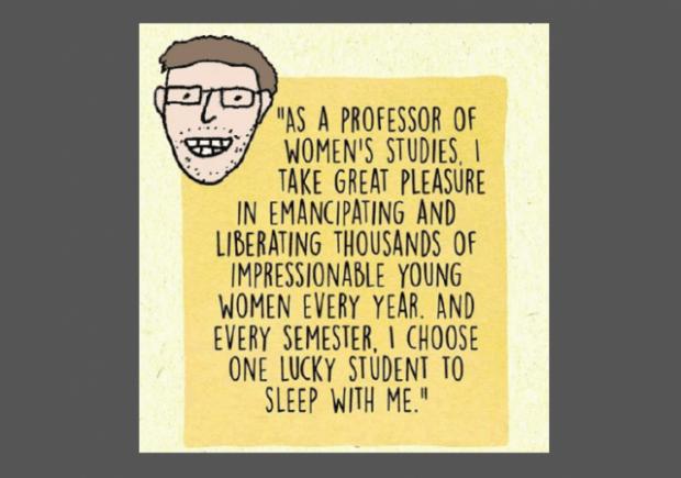 Leftist professor trolls female students