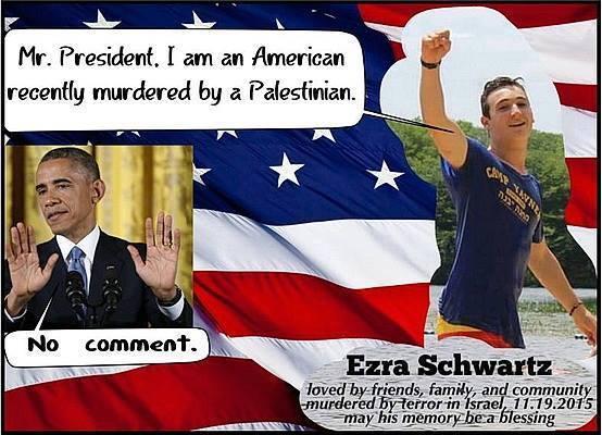 Obama's silence when Muslims kill Jews
