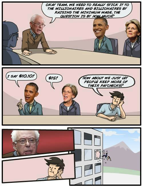 Bernie sticking it to millionaires