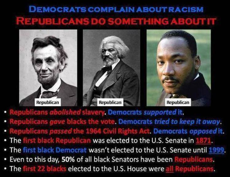 Democrats Republicans Blacks