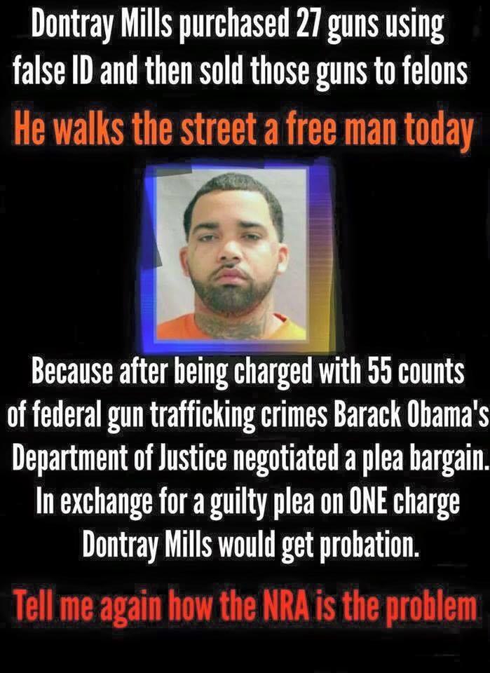 Obama government lax on gun criminals