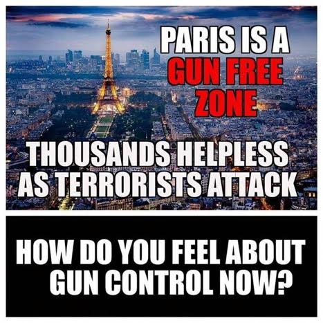 Paris is a gun free zone