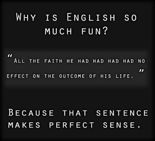 Why English is fun