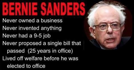 Bernie Sanders employment history