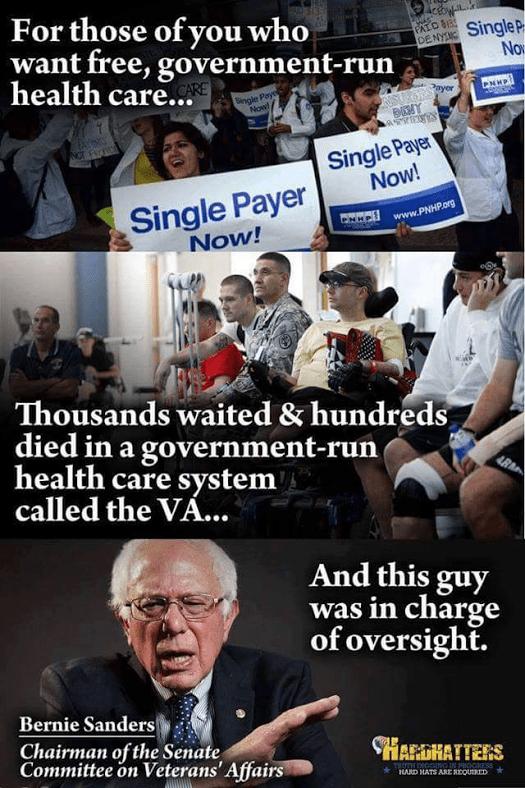 Bernie oversaw VA
