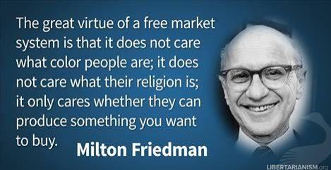 Free market is color blind
