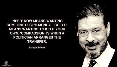 Need greed compassion politicians