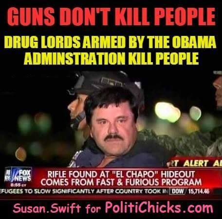 Obama's drug lords kill people with guns