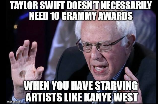 Taylor Swift should share awards with Kanye