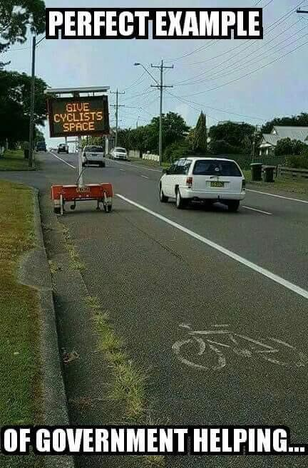 Government helping cyclists