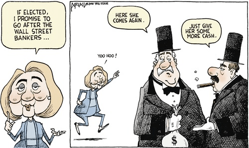 Hillary Wall Street bankers