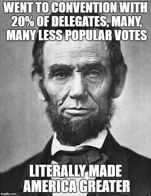 Politics Lincoln contested convention