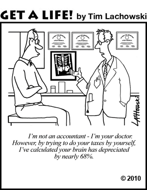 Silly doctors accountants brain function