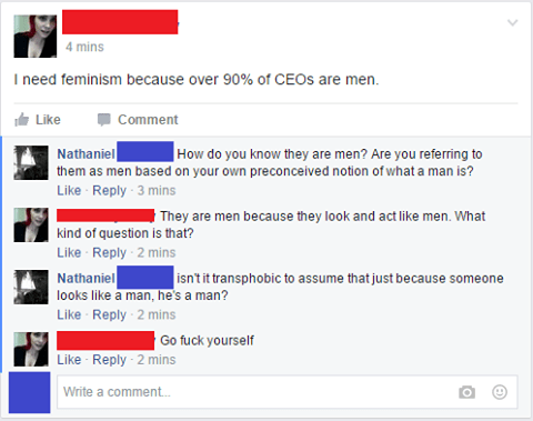 Stupid liberals on feminism and gender identity