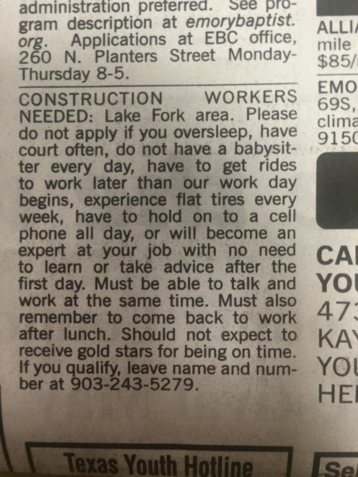 Wisdom qualities in job hunter