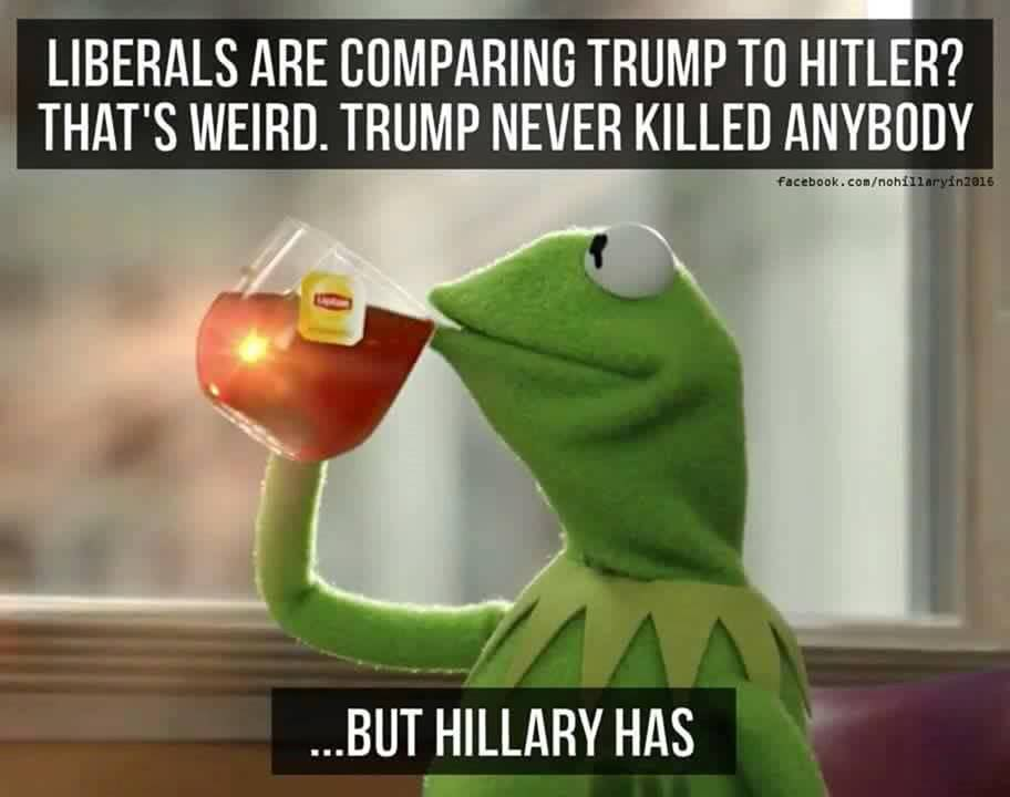 Description:                                                          Hillary Trump                                                          Hitler