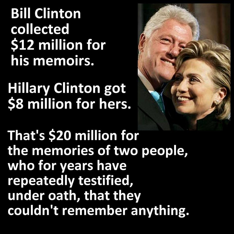 Hillary paid massively for memoirs