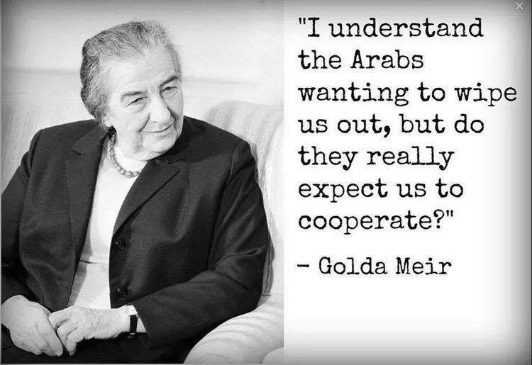 Description:                                                          Islam Golda                                                          Meir Jews