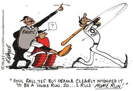 Obama at                                                           bat