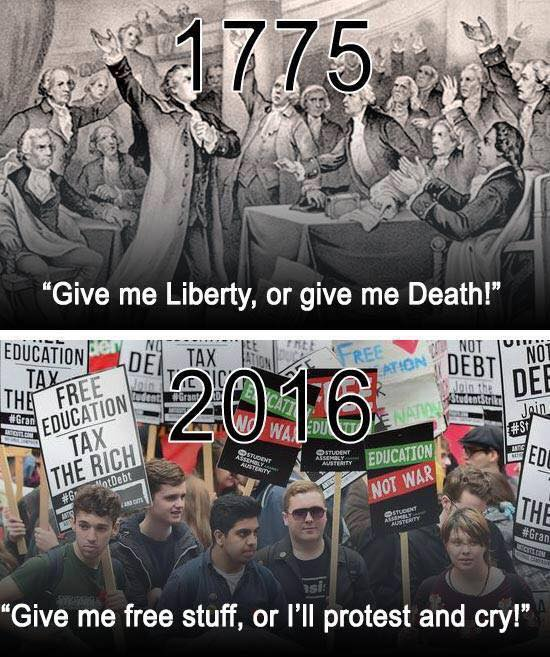 Stupid liberals American Revolution versus today's Progressives