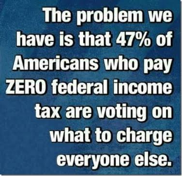 Elections people who pay no taxes vote