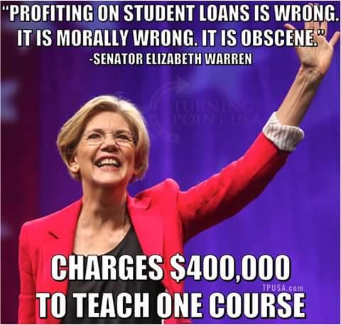 Stupid liberals Elizabeth Warren hypocrite