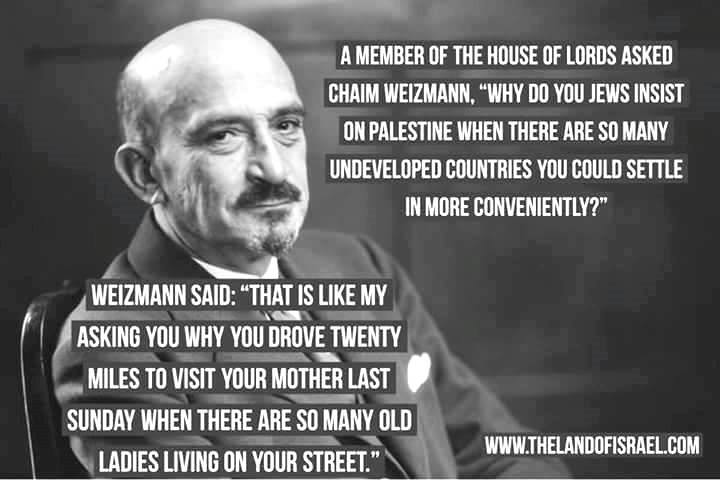 Israel Chaim Weizmann on its importance