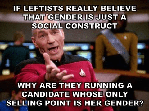 Gender candidate's selling point is gender