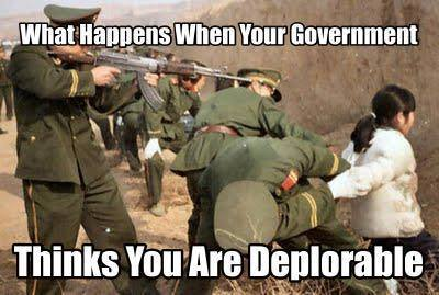 Government thinks you're deplorable