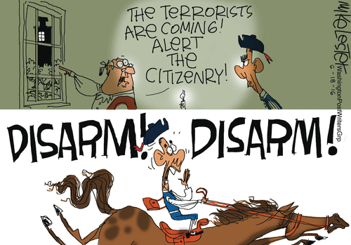 Guns disarm before terrorists