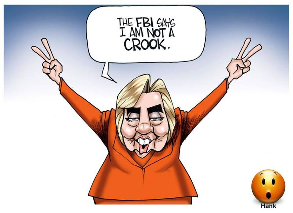 Hillary exonerated by FBI