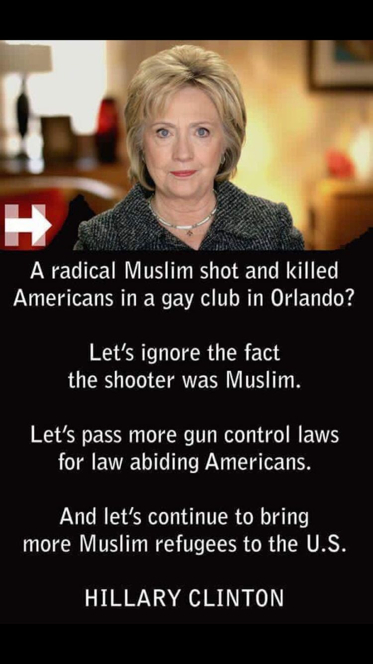 Hillary ignores Islamic terrorism