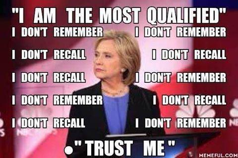 Hillary not trustworthy