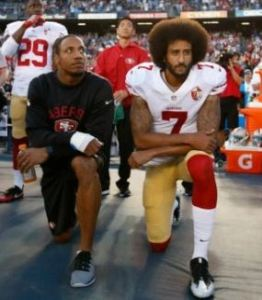 Kaepernick kneels