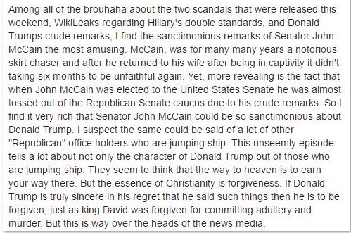 Christian forgiveness and McCain