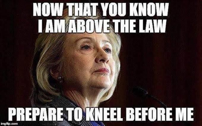 Hillary free kneel before her