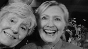"Text from Kleszczewski's Facebook post: ""I met Candidate Hillary Clinton at AL and ALA National Convention in Cincinnati Ohio, Wednesday, August 31, 2016. How exciting to meet her again ."""