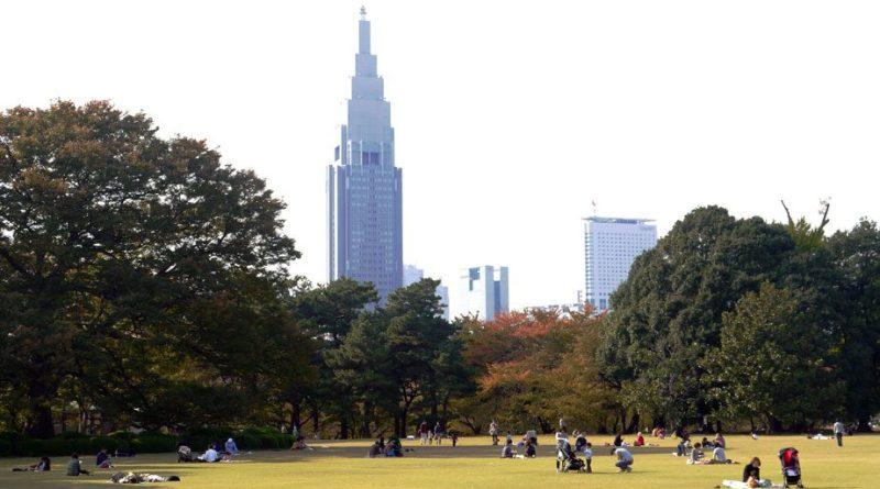 The view of Tokyo from Shinjuku Park