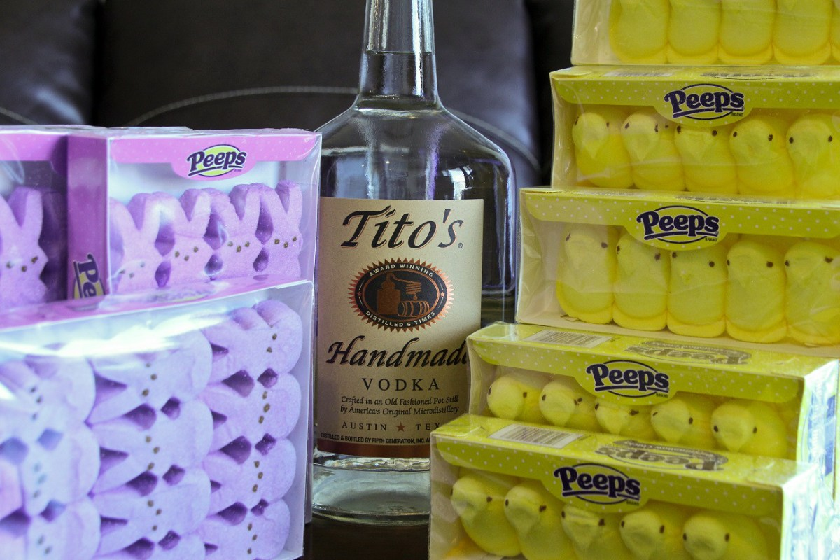 Vodka Soaked Peeps are the best use of candy sales