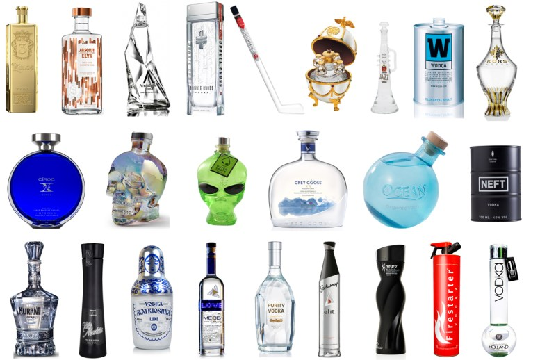 coolest vodka bottles