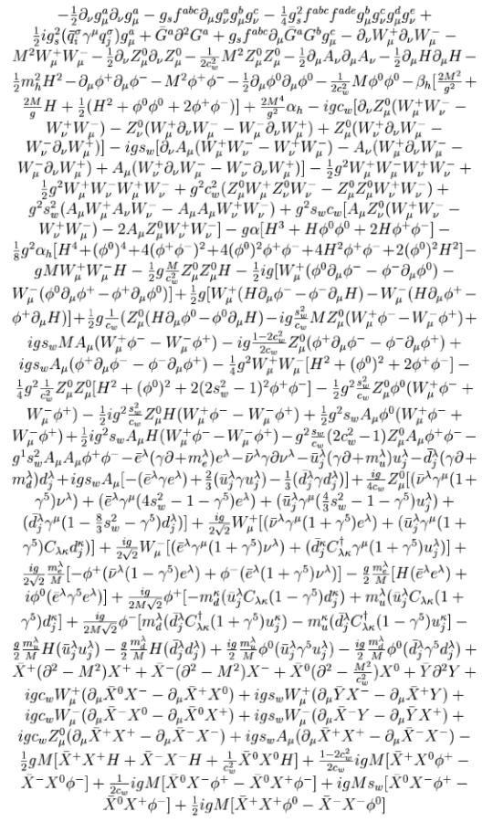Lagrangiana del Modello Standard