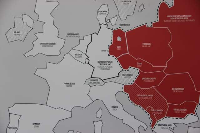 Erfurt, Germany, East Germany map