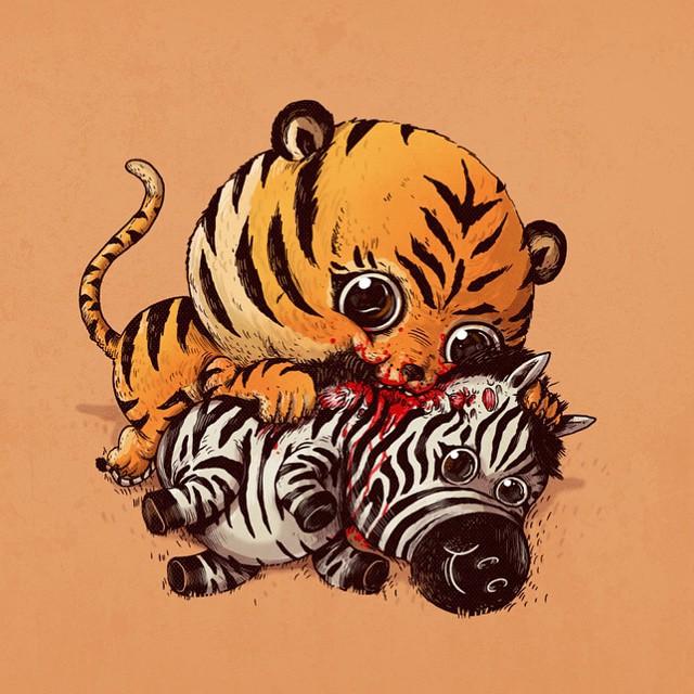 caricaturas-animales-depredadores-presas-sobrepeso-alex-solis (3)