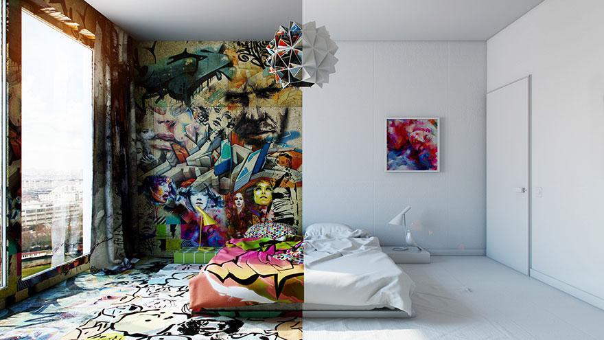 habitacion-hotel-dividida-mitad-blanco-graffiti-pavel-vetrov (1)