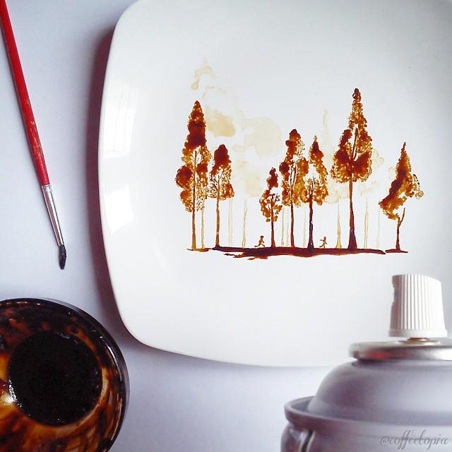 pintura-hojas-secas-posos-cafe-ghidaq-al-nizar-zerowastecoffee (14)