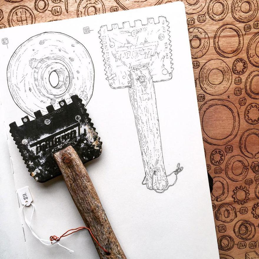 proyecto-dibujo-objetos-cobertizo-abuelo-fallecido-lee-john-phillips (9)