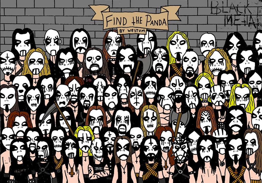 encuentra-panda-puzzle-black-metal-espen-westum