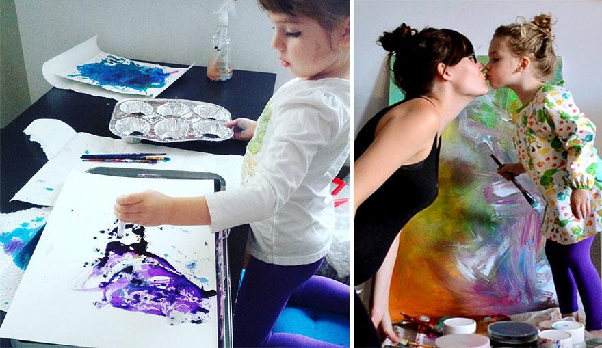 madre-hija-garabatos-pintura-eve-ruth-oosterman (1)