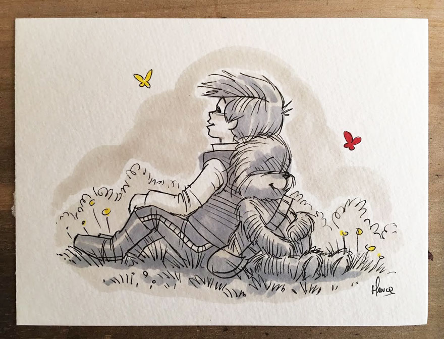 dibujos-mezcla-winnie-pooh-guerra-galaxias-james-hance (12)