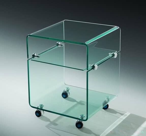 Mesa baja de cristal Amstrong